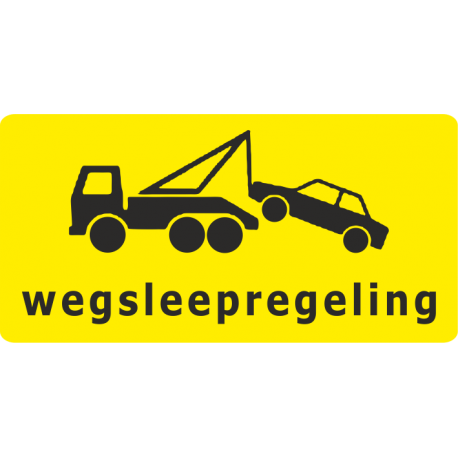 Wegsleepregeling sticker (geel)