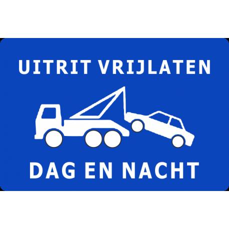 Uitrit vrijlaten dag en nacht stickers (blauw)