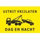 Uitrit vrijlaten dag en nacht stickers (geel)
