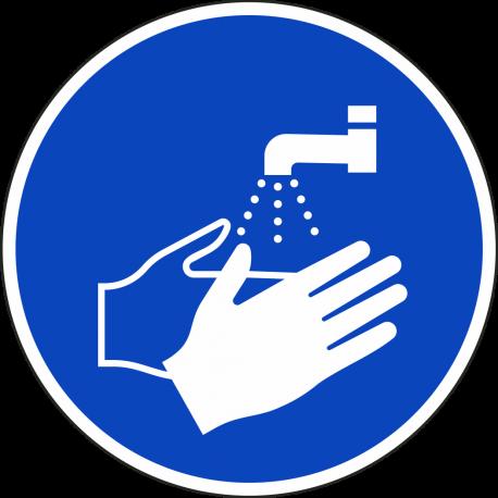 Handen wassen verplicht ISO bordjes