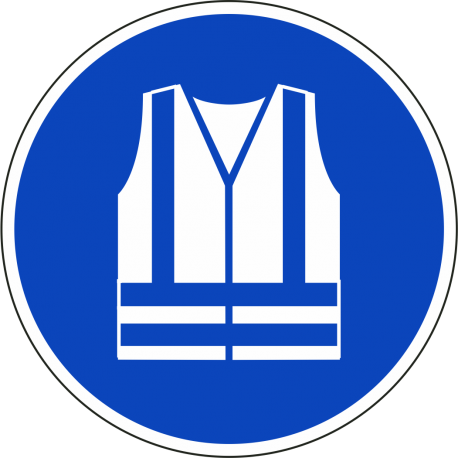 Veiligheidsjas (high visibility) verplicht bordjes