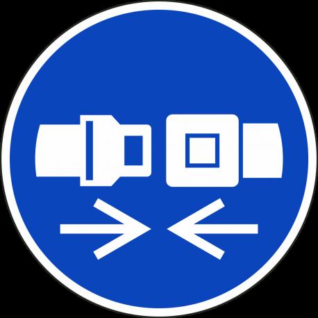 Veiligheidsriem verplicht bordjes