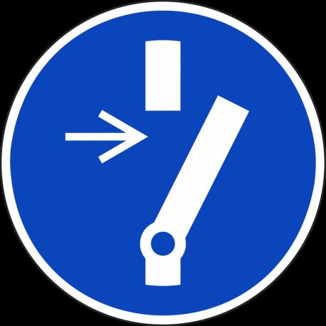 Vrijschakelen voor onderhoud verplicht bordjes