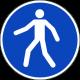 Verplichte doorgang voetgangers bordjes