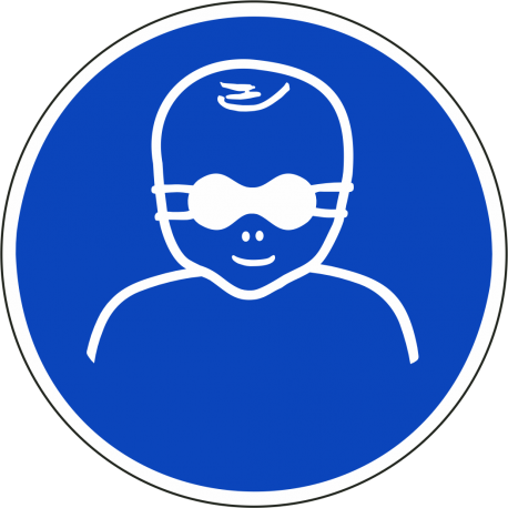 Oogbescherming kinderen verplicht bordjes