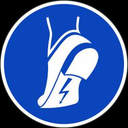 Antistatische schoenen verplicht bordjes