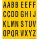 Alfabet letter stickers, geel - zwart