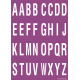 Alfabet letter stickers, paars - wit