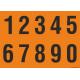 Cijfers 0-9, oranje - zwart