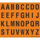 Alfabet letter stickers, oranje - zwart