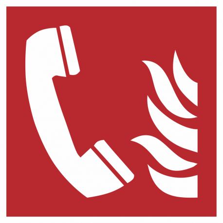 Telefoon voor brandalarm bordjes