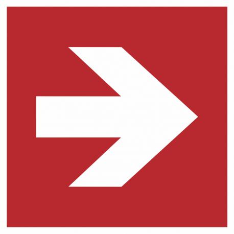 Richtingaanwijzing rechts bordjes (rood)