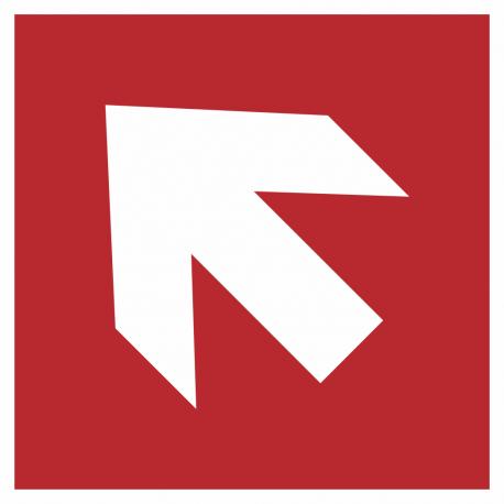 Richtingaanwijzing links omhoog bordjes (rood)