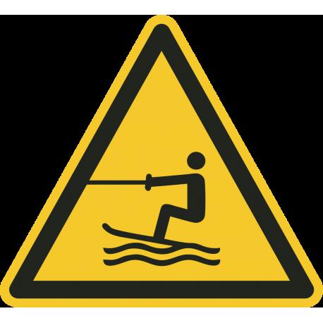 Gesleepte activiteiten in het water gebied stickers