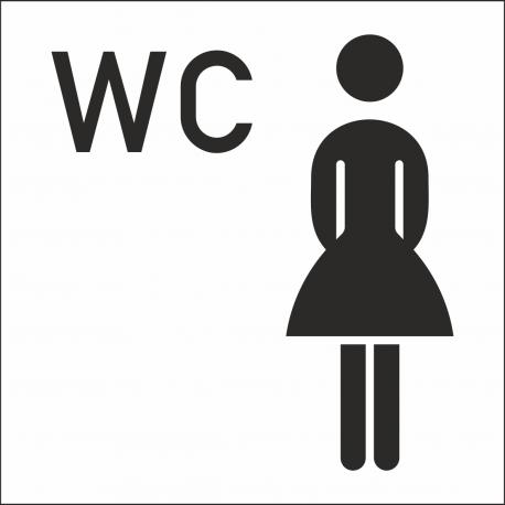 Dames wc stickers (met achtergrond)