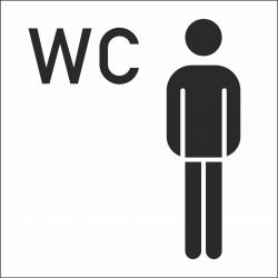 Heren wc stickers (met achtergrond)