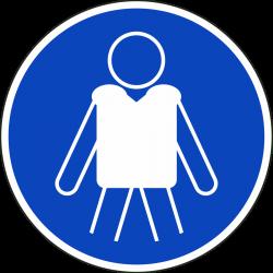 Reddingsvest verplicht stickers