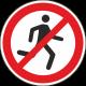 Verboden te rennen stickers