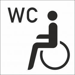 Invalide wc stickers (met achtergrond)