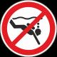 Verboden te diepzeeduiken stickers