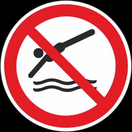 Verboden te duiken stickers