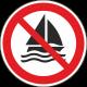 Verboden te zeilen stickers