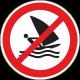 Verboden te windsurfen stickers