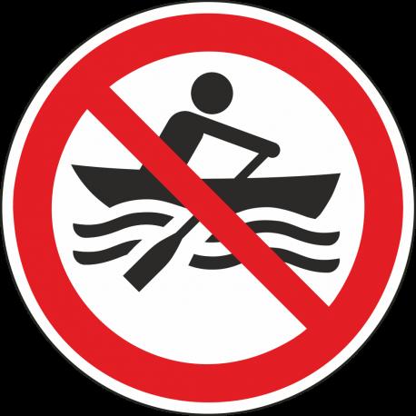 Verboden te roeien stickers