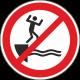 Verboden te springen in het water stickers