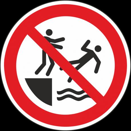 Verboden in het water te duwen stickers