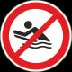 Verboden te bodyboarden stickers