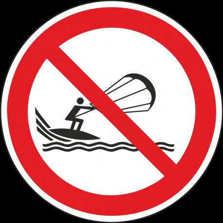 Verboden te kitesurfen stickers