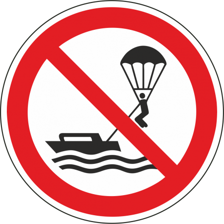Verboden te parasailen stickers
