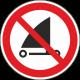 Verboden te strandzeilen stickers