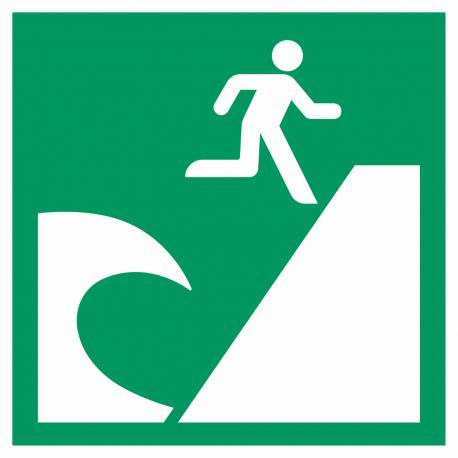 Tsunami evacuatiegebied stickers
