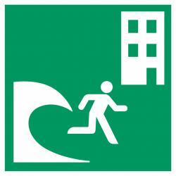 Tsunami evacuatiegebouw stickers