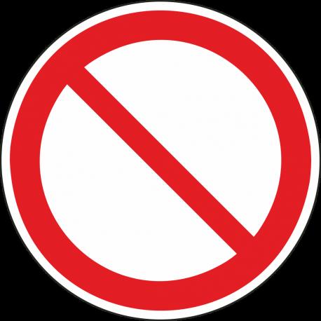Algemeen verbodsteken bordjes