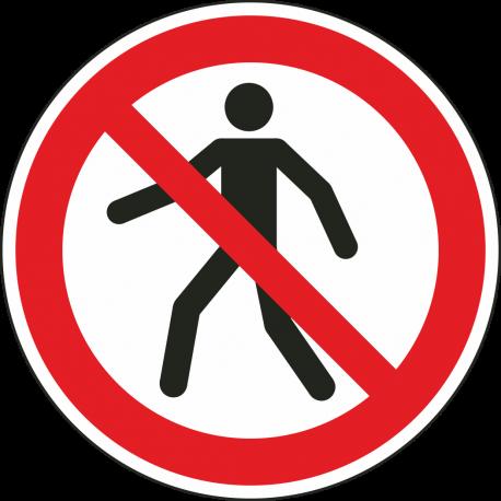 Verboden voor voetgangers bordjes