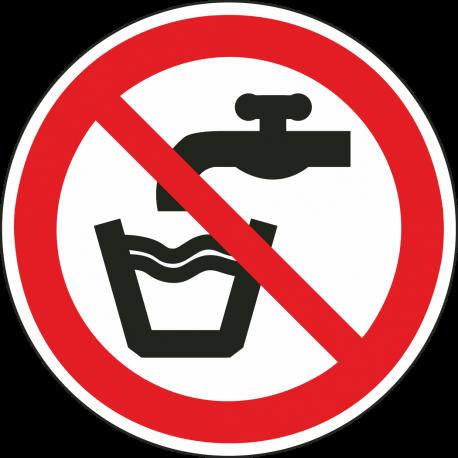 Geen drinkwater bordjes