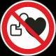 Verbod voor personen met pacemaker bordjes