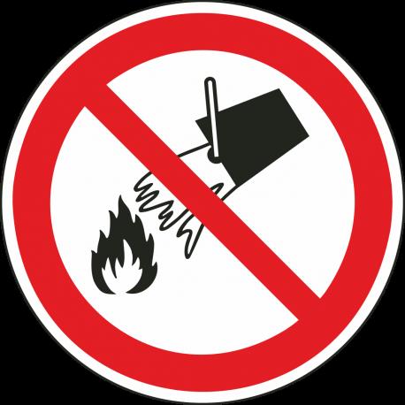 Verboden met water te blussen bordjes
