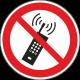 Mobiele telefoon verboden bordjes