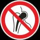 Verboden voor personen met metalen implantaat bordjes