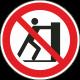Verboden te duwen bordjes