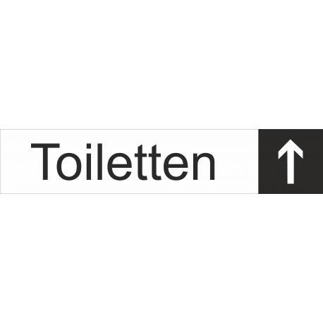 Toiletten rechtdoor stickers (met achtergrond)