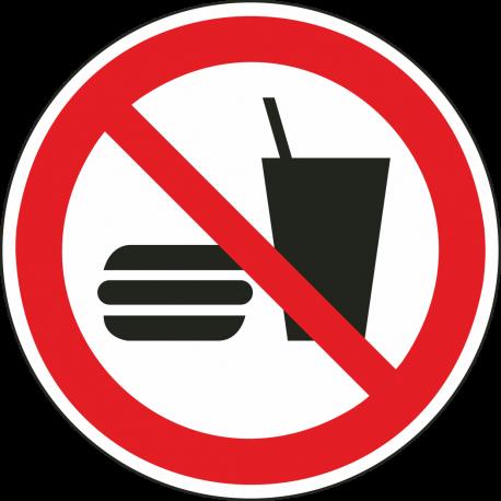 Eten en drinken verboden bordjes