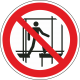 Verboden onafgewerkte stelling te gebruiken bordjes