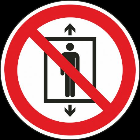 Personenvervoer verboden bordjes