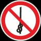 Verboden knopen te maken bordjes