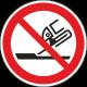 Verboden slijpschijf te gebruiken bordjes